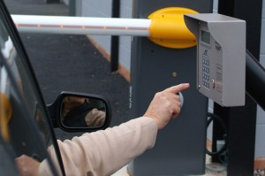 an image of the keypad entry system used to get into the carpark at Arden Self Storage