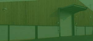 an image of the storage facility with a green hue for the banner
