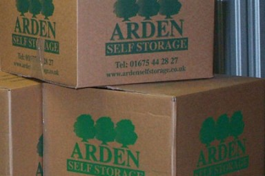 an image of the Arden Self Storage packaging boxes