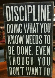 an image of a quote about discipline