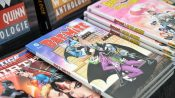 image of a batman and joker comic in a book store